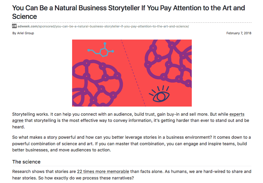 You can be a natural business storyteller